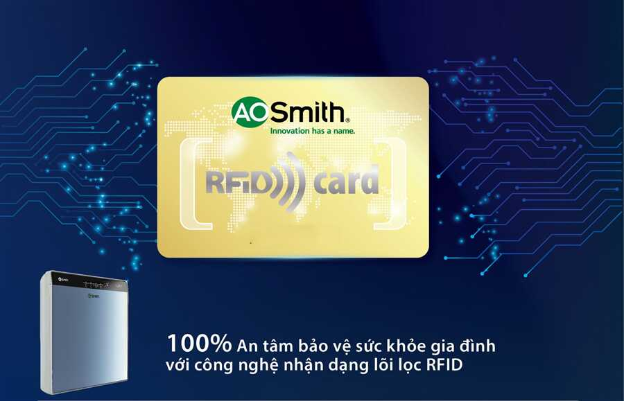 100% An tâm bảo vệ sức khỏe gia đình với Công nghệ nhận dạng lõi lọc chính hãng RFID tiên tiến nhất thế giới.