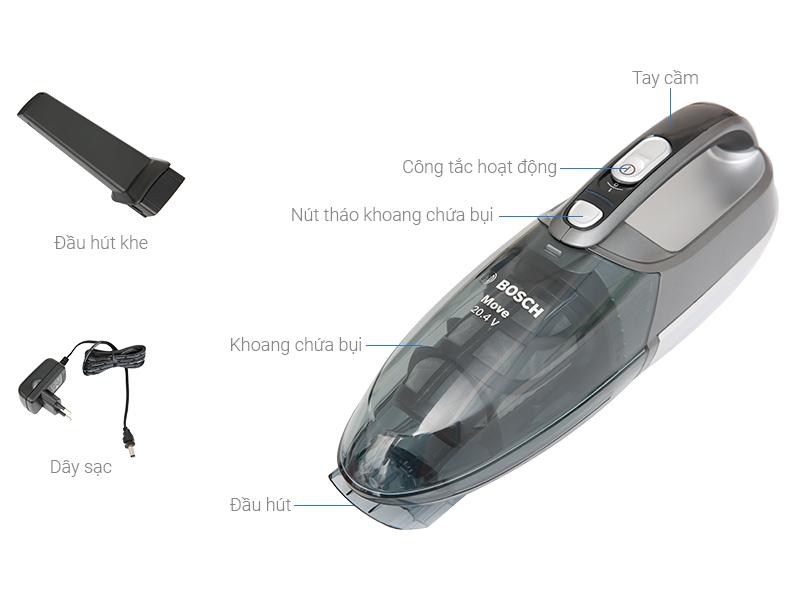 Thông số kỹ thuật Máy hút bụi cầm tay Bosch HMH.BHN20110