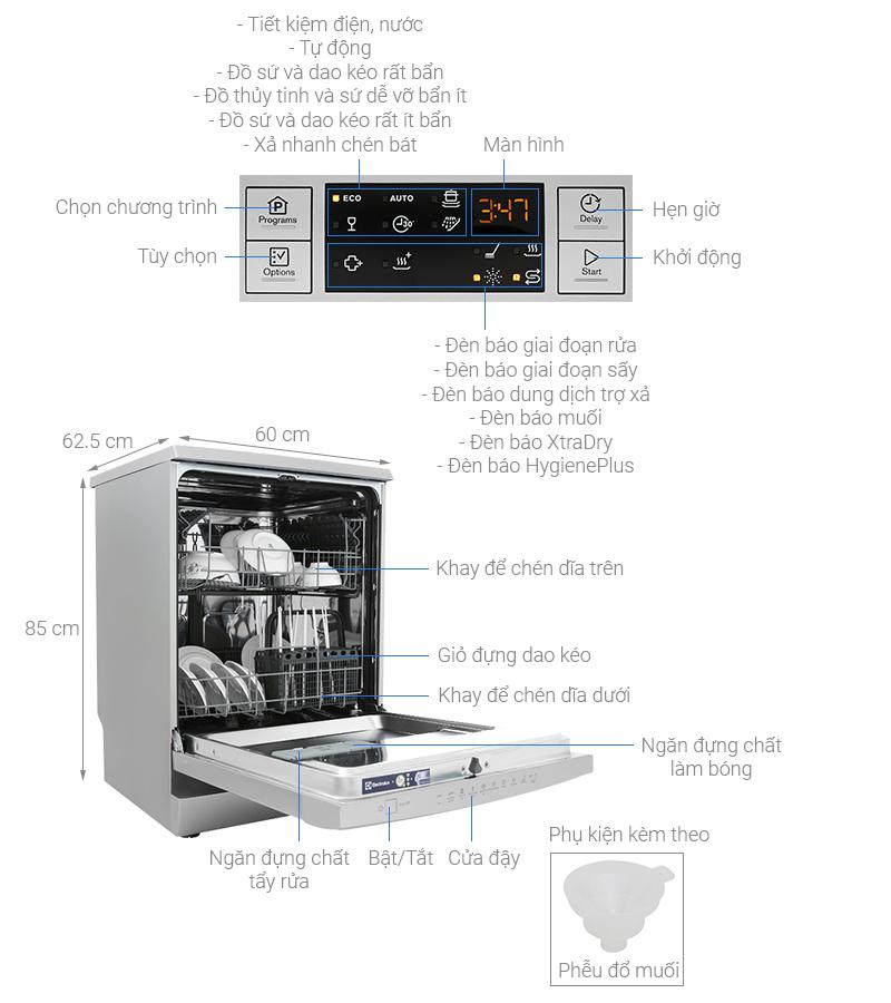 Máy rửa chén độc lập Electrolux ESF5512LOX