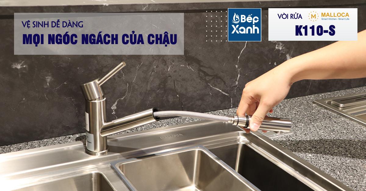 Vòi Rửa Chén Malloca K110-S